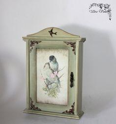 This item is unavailable Decoupage, Key Box, Box Design, Interior Design, Wallpaper, Crafts, Vintage, Furniture, Home Decor