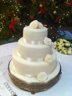 Plain wedding cake By VanillaPicnic on CakeCentral.com