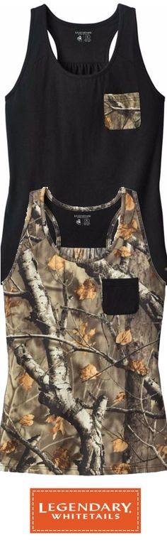 Ladies Oak Tree Reveal Big Game Camo Pocket Tank | Legendary Whitetails