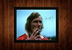 #James hunt signed framed pp a4 #print formula one f1 gift ideas #vintage,  View more on the LINK: http://www.zeppy.io/product/gb/2/251347573092/