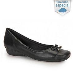 Sapato Comfortflex 14-56302G Num 41 E 42 - Preto