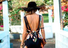 Look do dia - Jumpsuit floral