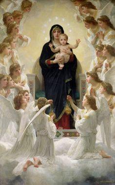 The Virgin with Angels, 1900 (oil on canvas) by Bouguereau, William-Adolphe (1825-1905); ; Musee de la Ville de Paris, Musee du Petit-Palais, France