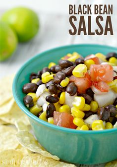Black bean and corn salsa is a summertime staple in our house. It's easy to make. Healthy, fresh and loaded with flavor. Eat it with chips or eat it as a salad for lunch. I also love to stir it into some white rice for a protein-packed meatless dinner.