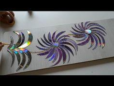 Recycled Cd Crafts, Old Cd Crafts, K Crafts, Diy Crafts Hacks, Creative Crafts, Arts And Crafts, Paper Flowers Craft, Flower Crafts, Cd Decor