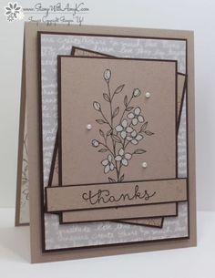I used the Stampin' Up! Touches of Texture and Cottage Greetings stamp sets to create my card for the Sunday Stamps Sketch Challenge this week. Here is the sketch for Sunday Stamps SSC128. I started