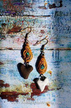 Lovers Earrings-romantic heart shape gift for by ChaNoJaJewelry