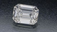 Diamond quality article. Shown is a D grade colourless emerald cut diamond.