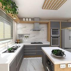 Kitchen Room Design, Modern Kitchen Design, Home Decor Kitchen, Interior Design Kitchen, Kitchen Furniture, New Kitchen, Home Kitchens, Home Design Decor, Küchen Design
