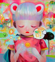 Hikari Shimoda's Adorably Horrific Children Comment On Horror, Innocence, And Human Existence - Beautiful/Decay Artists For Kids, Art For Kids, Illustrations, Illustration Art, Osaka, Art Mignon, Horror, Pastel, Pin Art
