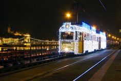 The already decommissioned trams come alive every winter before Christmas to light up the streets in the evenings in Budapest, Hungary. What A Wonderful World, Wonderful Time, Decorating With Christmas Lights, Christmas Decorations, Visit Budapest, Budapest Hungary, Budapest Christmas, Sicily Italy, Central Europe