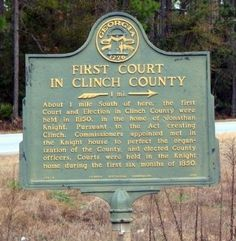 First Court in Clinch County Marker