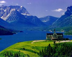 Yep, another 2010 visit!  Prince of Wales Hotel, Waterton Lakes National Park, Alberta    Blues, greens, whites, Inspiration comes in all forms.