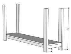 X Console Table - Handmade Haven Diy Furniture Plans, Diy Furniture Projects, Woodworking Furniture, Rustic Furniture, Entry Bench Diy, Diy Entryway Table, 2x4 Wood Projects, Easy Woodworking Projects, Diy Farmhouse Table