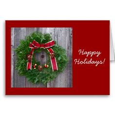 Happy Holidays! Customizable Greeting Card Design from Cards by Janz
