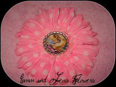 Tangled Inspired Flower Hair Clip4 Inch Pink by Emmandjensflowers, $5.00