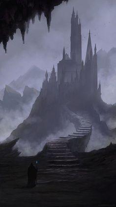 New dark fantasy landscape castles concept art 29 ideas Dark Fantasy Art, Fantasy Artwork, Foto Fantasy, Fantasy Kunst, Fantasy Concept Art, Fantasy Art Landscapes, Fantasy City, Fantasy Castle, Fantasy Places