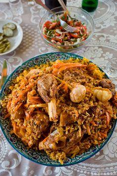 Cook Real Uzbek Pilaf - English Russia Special Recipes, Great Recipes, Favorite Recipes, Russian Recipes, Italian Recipes, Uzbekistan Food, Cooking Recipes, Healthy Recipes, International Recipes