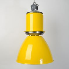 Decor ideas_29.Great lights from @trainspottersuk. This is a salvaged communist era industrial pendant light in yellow.