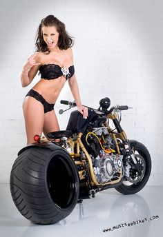 There are now photos & Videos of Real Biker Babes, Biker Events, Motorcycles (of all sizes & MFG's) plus incredible photos of professional and amateur models posing with bikes of all kind. If it has two or three wheels, it gets. Motorbike Girl, Motorcycle Bike, Motorcycle Girls, Lady Biker, Biker Girl, Cowboys From Hell, V Max, Biker Chick, Street Bikes