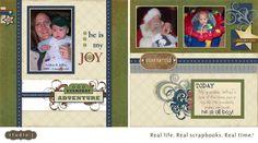 Creatively Artsy Card Gallery: My Grandson Jeffrey - Studio J Layout # 4