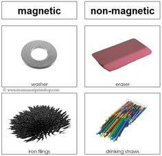 Magnetic and Non-Magnetic Sorting Cards - Printable Montessori Science Materials for Montessori Learning at home and school.
