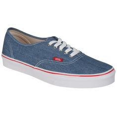 Vans Authentic Canvas Trainers - Denim ($48) ❤ liked on Polyvore