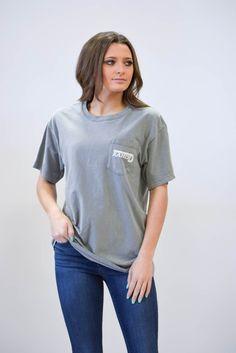f7ec921eedae20 Lazy J Lone Star Hereford Grey Short Sleeve Pocket T-Shirt