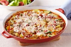 Skillet Vegetable Lasagna recipe food