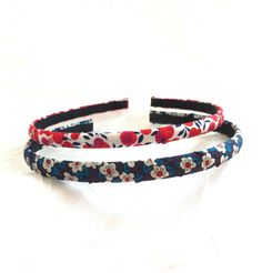 Liberty of London - Cotton Headbands - Set of 2 Narrow - Liberty Prints - Liberty Hairband- Flower Headbands- Skinny Headbands- Hairband Set by PureBlissJewelry on Etsy