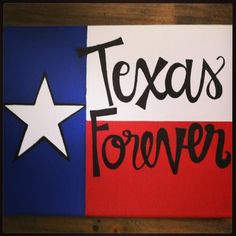 Texas Forever Canvas by bkraftybybethany on Etsy, $25.00