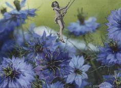 into the blue. handmade collage by papiertänzerin.