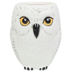Harry Potter Hedwig Ceramic Mug Hot Topic (£9.39) ❤ liked on Polyvore featuring home, kitchen & dining, drinkware, ceramic mugs and owl mug