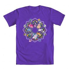 """Rose Window"" by Samuel Ho ""Sho"" -   My Little Pony friends done in a stained glass Rose Window. (Buy at WeLoveFine.com)"