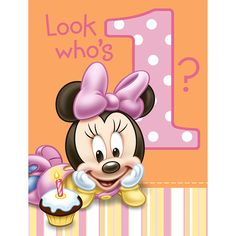 Minnie Mouse 1st Birthday Party Invitations 8ct | Wally's Party Factory #minnie…