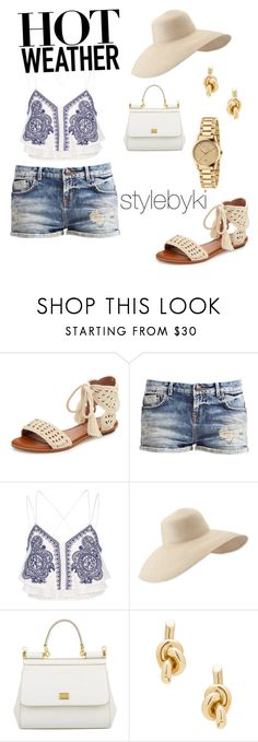 """""""Summer style"""" by kiara-allred ❤ liked on Polyvore featuring Joie, River Island, Eric Javits, Dolce&Gabbana, Balenciaga and Gucci"""