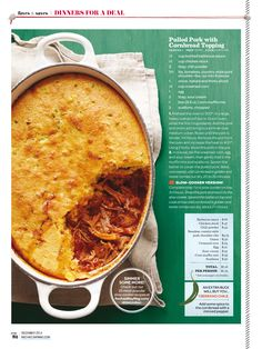 Pulled Pork with Cornbread Topping from Every Day with Rachel Ray December 2014