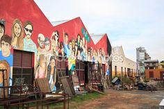 Буэнос-Айрес, Аргентина - abril 4: красочное уличное искусство в palerm — Стоковое изображение #57767583