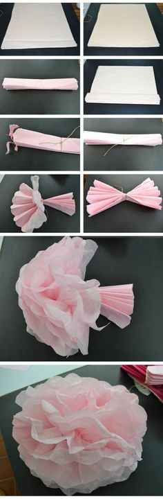cadeau pour la fête des mères, fleur en papier plié smple à réaliser