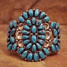 Turquoise Petit point cuff Bracelet