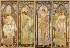 A. Mucha, Le fasi del giorno, 1899, litografia.