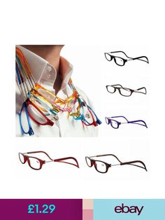 fb1fb9fcad60 Magnetic Reading Glasses Full Frame Folded Hanging +1 +1.5 +2 +2.5 +3 +3.5  +4