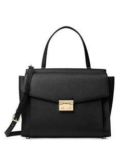 Styled in classic saffiano leather 0377e6480fba3