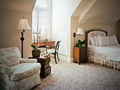 A hotel room that's just as comfy and cozy as your own bedroom? We'll take it! | The Duke Mansion in Charlotte, North Carolina | Southern Living Handpicked Hotels
