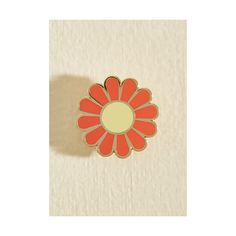 Flower Play Enamel Pin ($15) ❤ liked on Polyvore featuring jewelry, brooches, accessories, orange, pin - brooch, flower jewelry, pin jewelry, blossom jewelry, orange brooch and flower broach