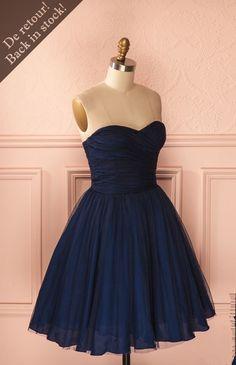 short navy blue homecoming dress, cute navy party dress, dancing dress,navy blue short bridesmaid dress