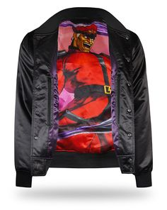 This Shadaloo Street Fighter Jacket comes with lots of extra pockets and is made of a durable polyester so it is sure to survive your next attempt at taking over the world.