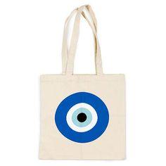 Evil Eye tote bag by DeadlyDesignerStore on Etsy