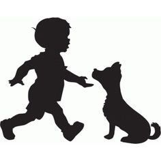 Silhouette Design Store - View Design boy with dog silhouette Silhouette Design, Boy Silhouette, Silhouette Painting, Silhouette Studio, Scroll Saw Patterns, Silhouettes, Dog Signs, Drawing People, Dog Art