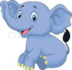 Vector of 'Cute baby elephant cartoon'